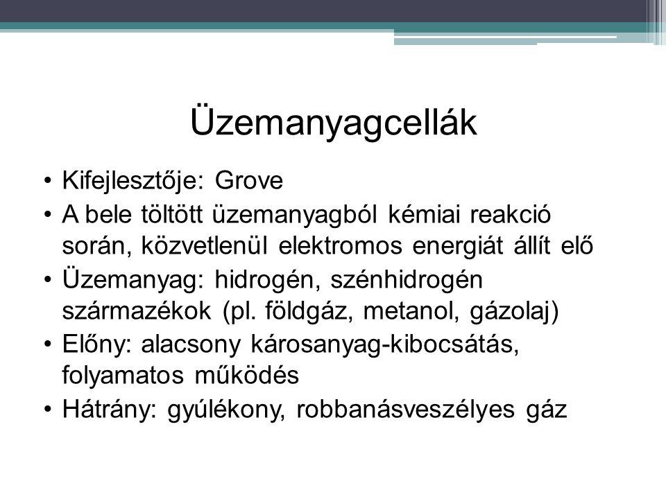 Üzemanyagcellák Kifejlesztője: Grove