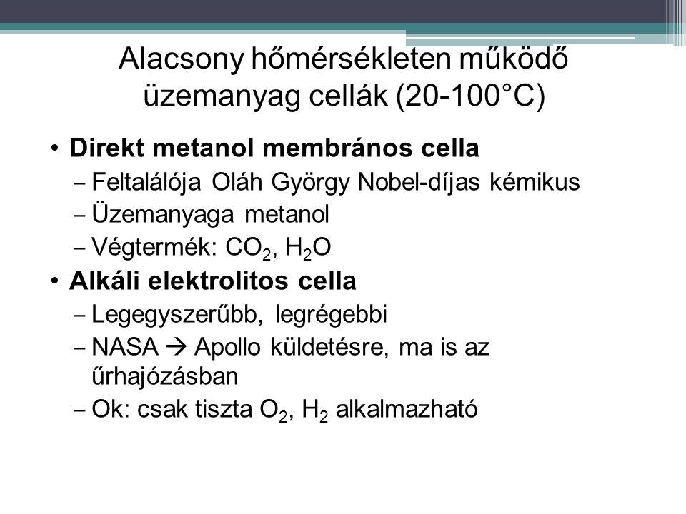 Alacsony hőmérsékleten működő üzemanyag cellák (20-100°C)