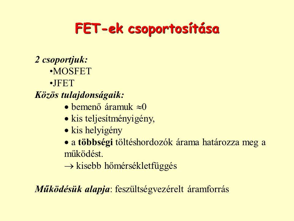 FET-ek csoportosítása