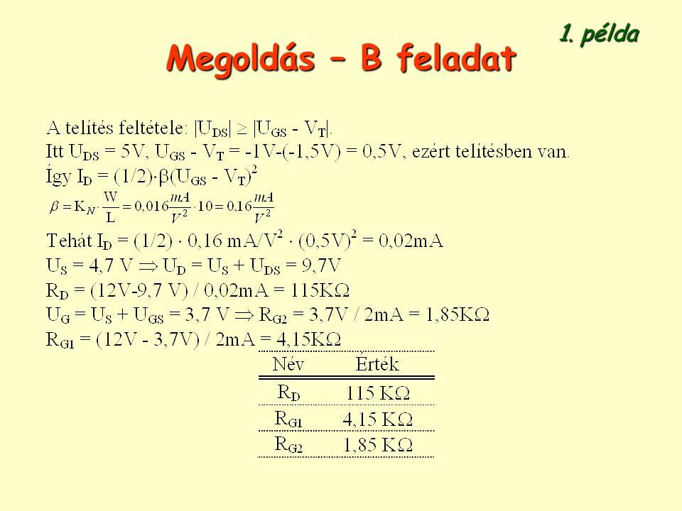 1. példa Megoldás – B feladat