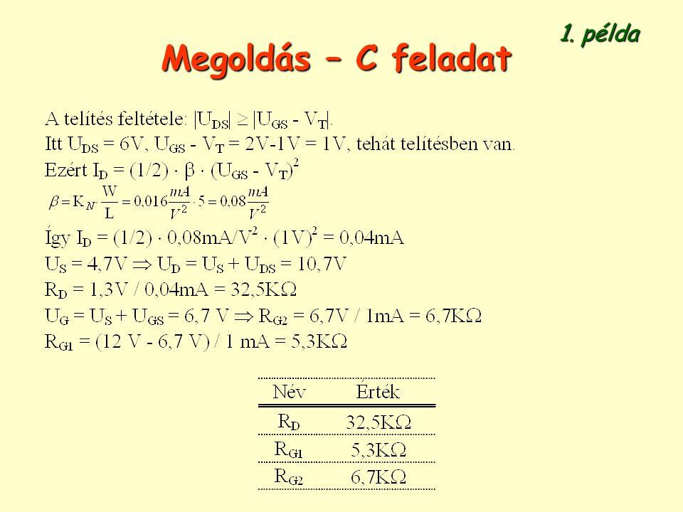 1. példa Megoldás – C feladat