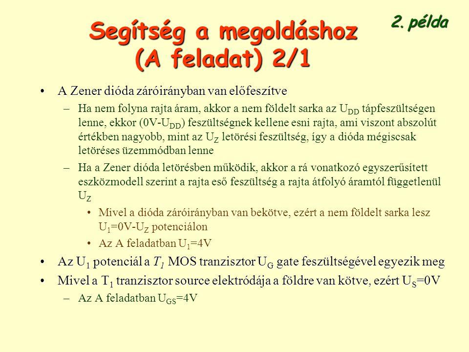 Segítség a megoldáshoz (A feladat) 2/1