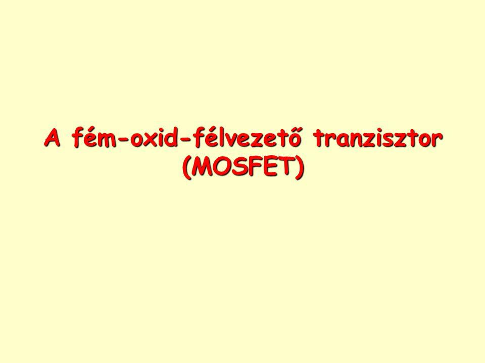 A fém-oxid-félvezető tranzisztor (MOSFET)