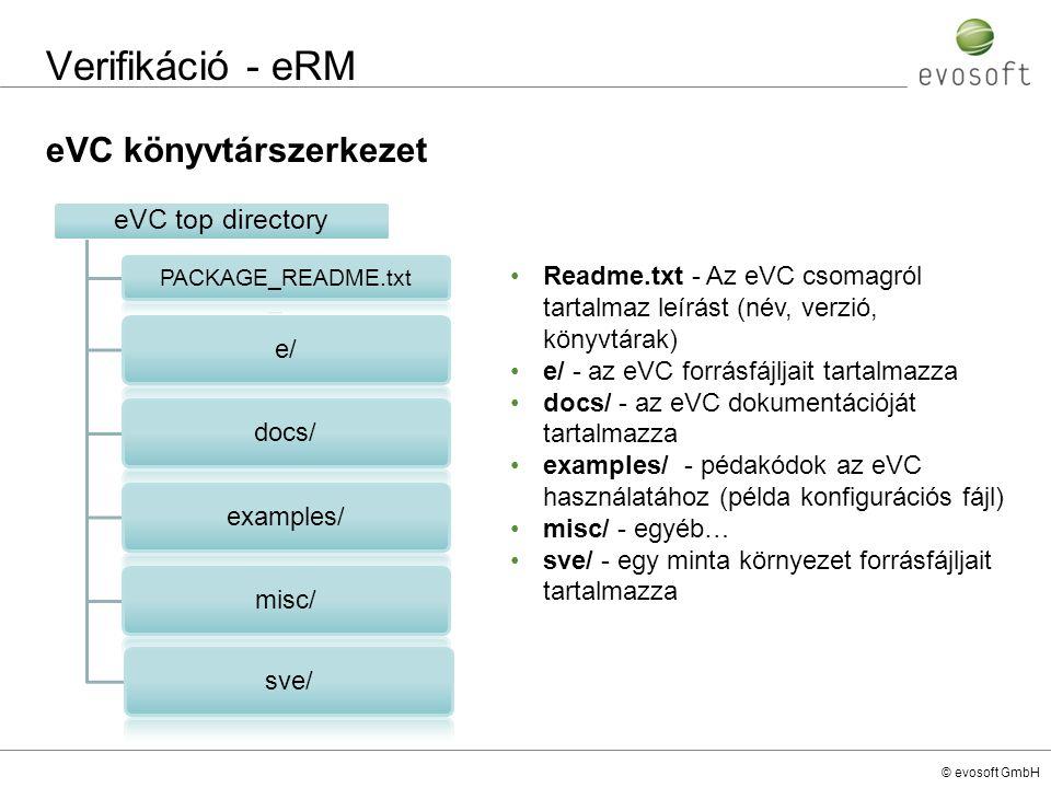 Verifikáció - eRM eVC könyvtárszerkezet e/ docs/ examples/ misc/ sve/