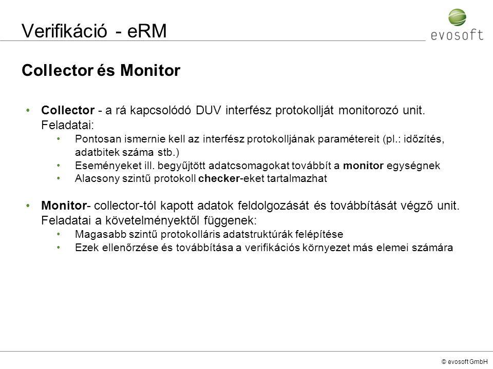 Verifikáció - eRM Collector és Monitor