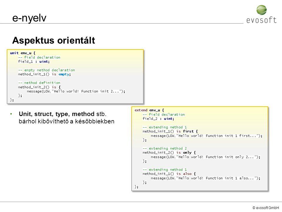 e-nyelv Aspektus orientált