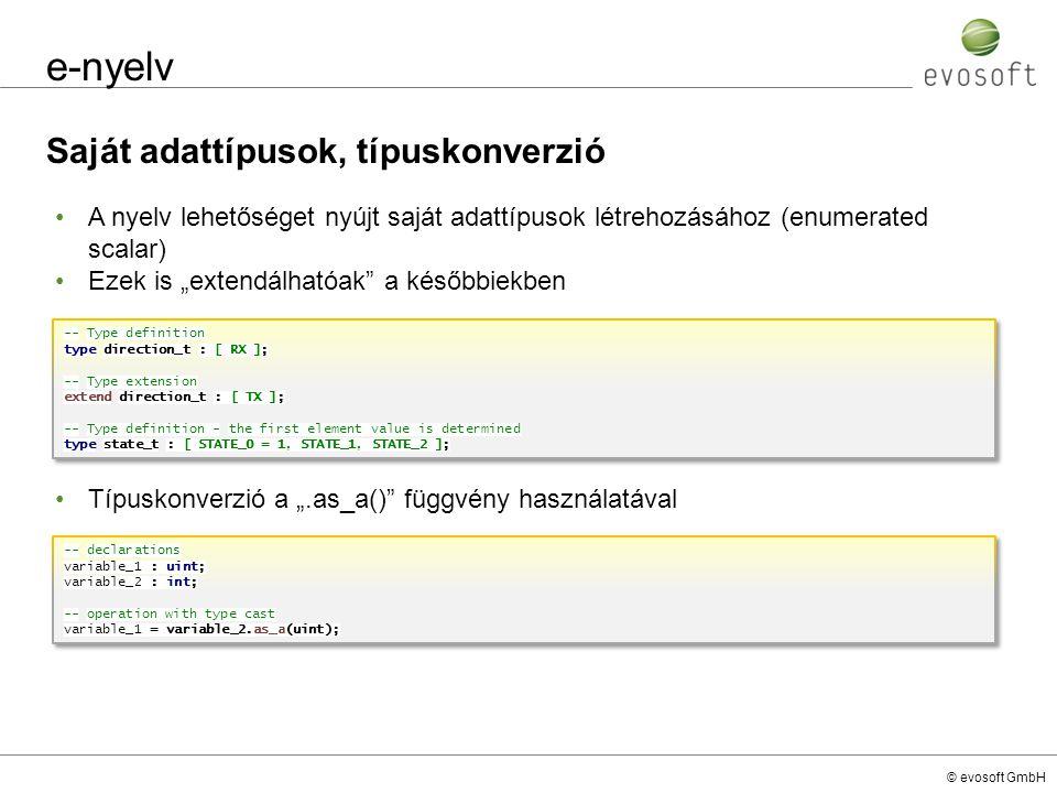 e-nyelv Saját adattípusok, típuskonverzió