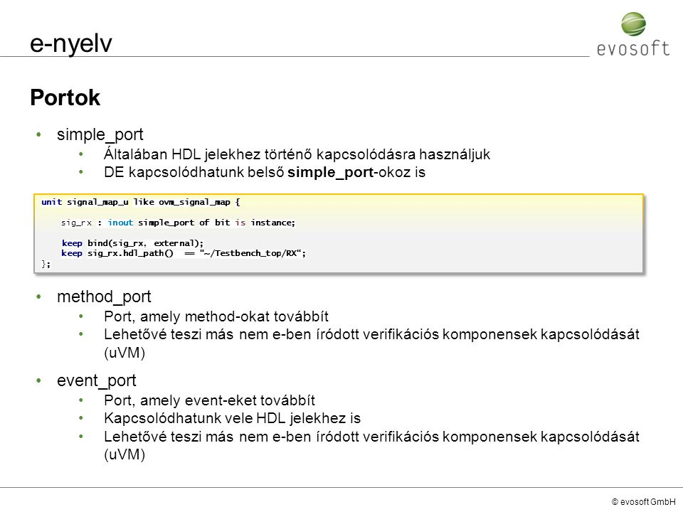 e-nyelv Portok simple_port method_port event_port
