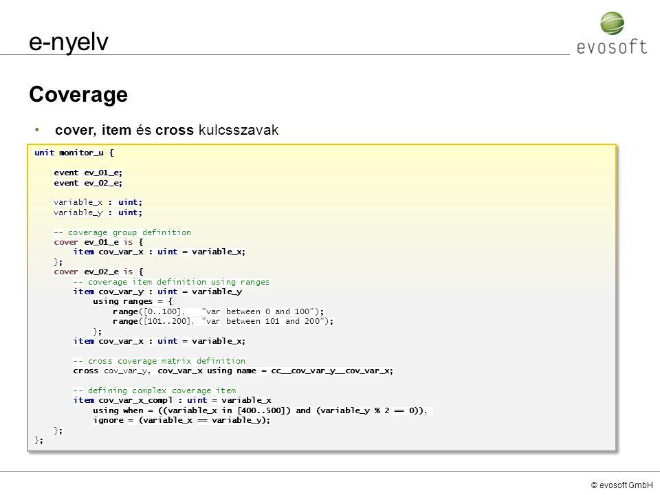 e-nyelv Coverage cover, item és cross kulcsszavak unit monitor_u {