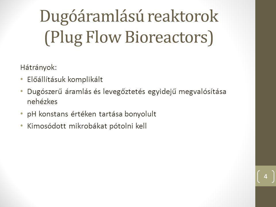 Dugóáramlású reaktorok (Plug Flow Bioreactors)