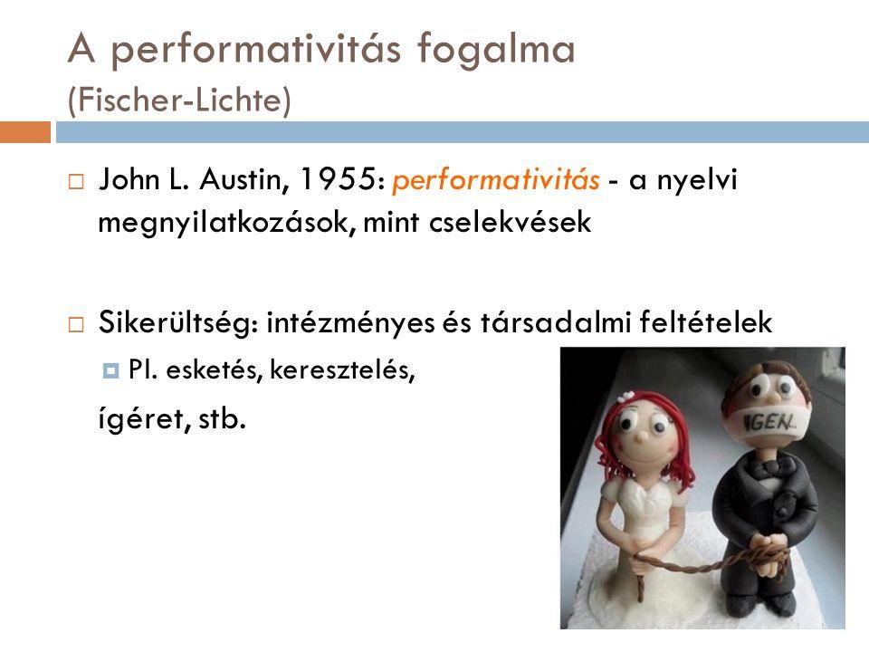 A performativitás fogalma (Fischer-Lichte)