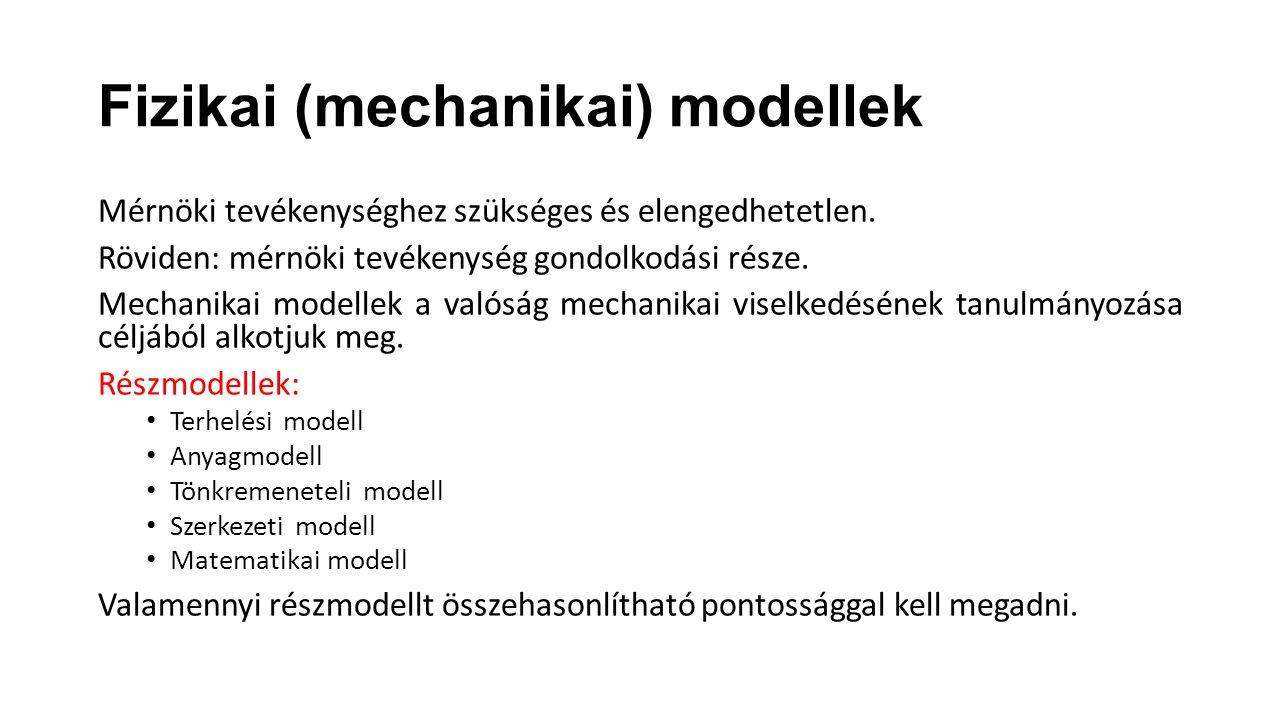 Fizikai (mechanikai) modellek
