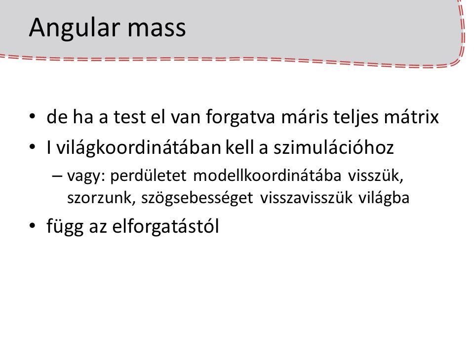 Angular mass de ha a test el van forgatva máris teljes mátrix