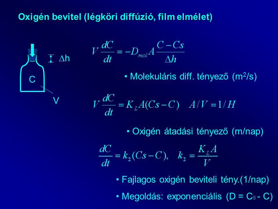 Oxigén bevitel (légköri diffúzió, film elmélet)