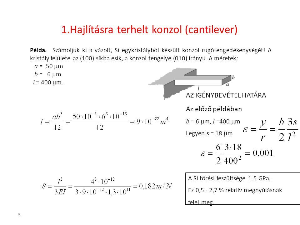 1.Hajlításra terhelt konzol (cantilever)