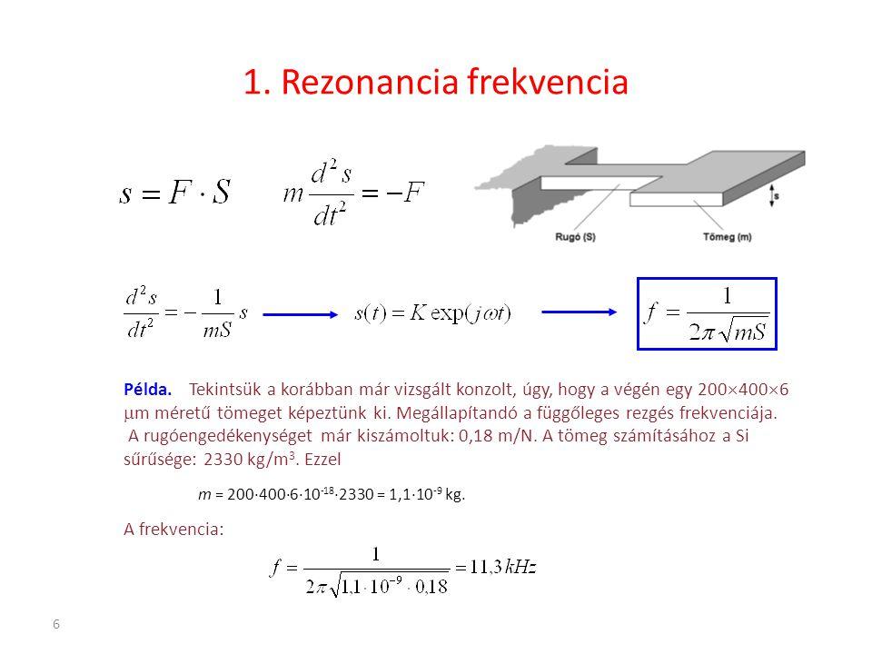 1. Rezonancia frekvencia
