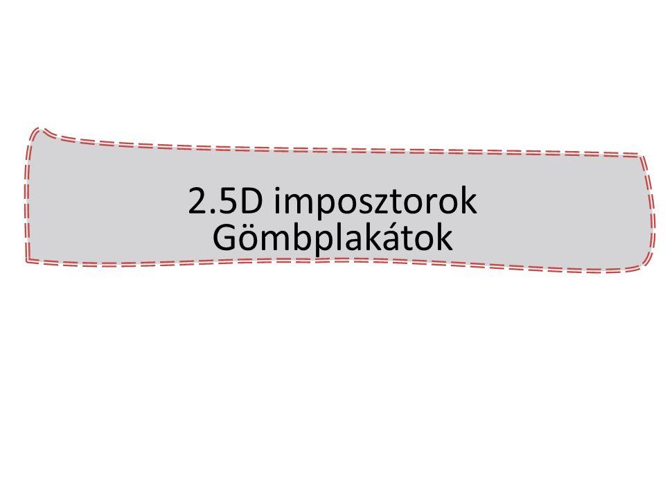 2.5D imposztorok Gömbplakátok