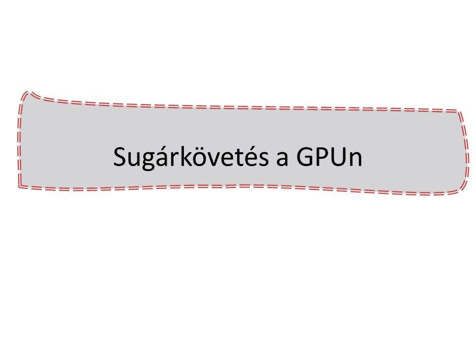 Sugárkövetés a GPUn