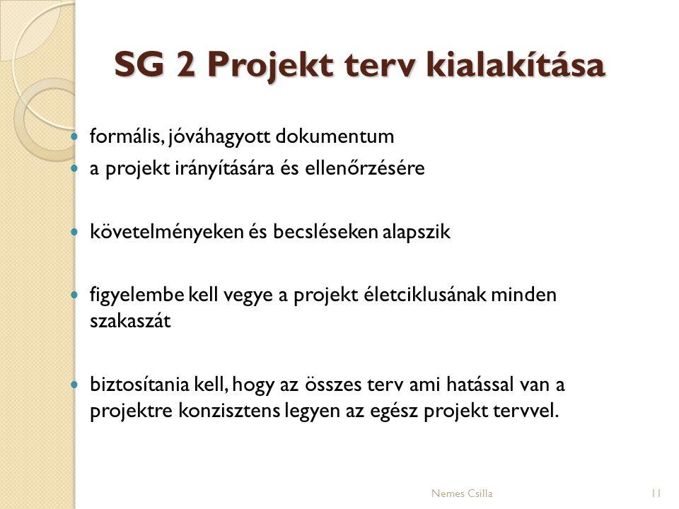 SG 2 Projekt terv kialakítása