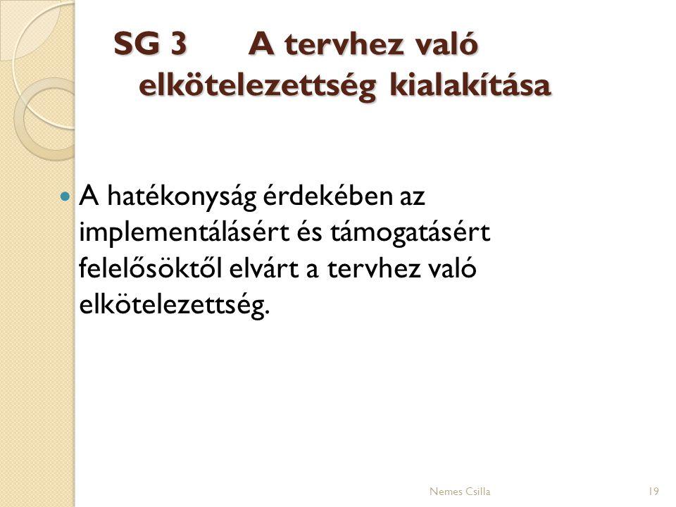 SG 3 A tervhez való elkötelezettség kialakítása