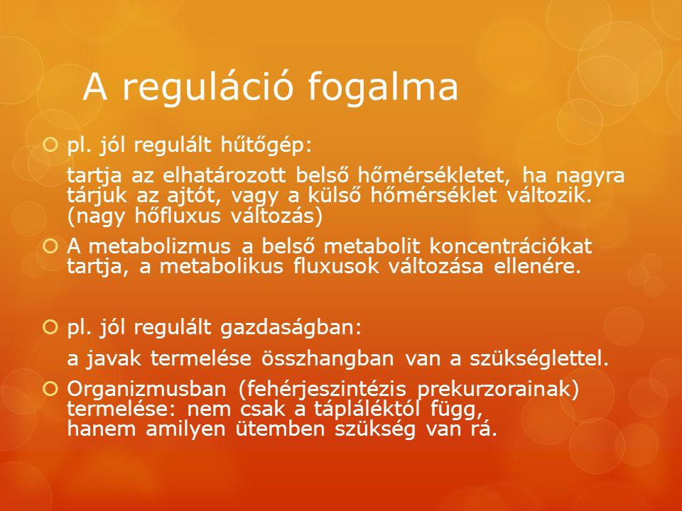 A reguláció fogalma pl. jól regulált hűtőgép: