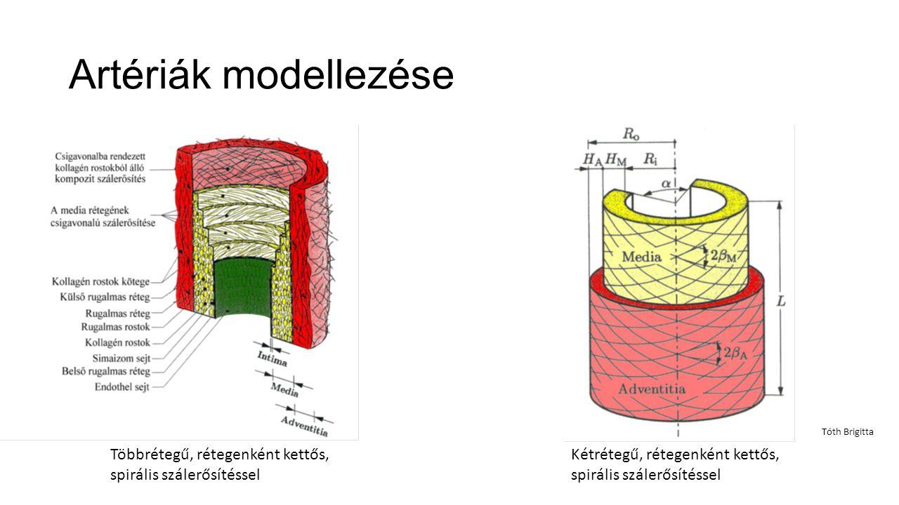 Artériák modellezése Tóth Brigitta. Többrétegű, rétegenként kettős, spirális szálerősítéssel.