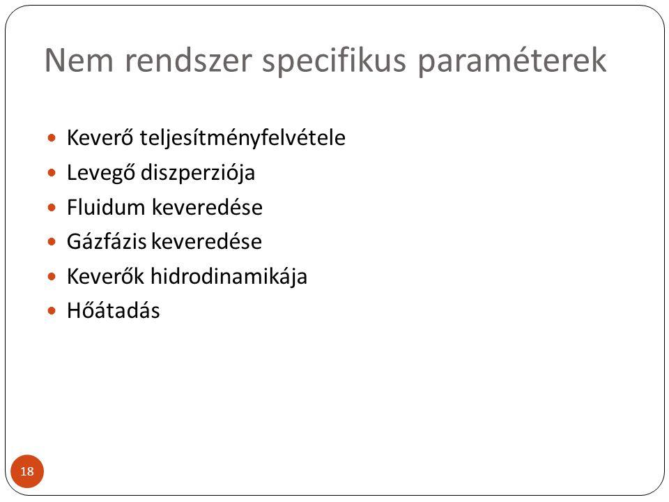 Nem rendszer specifikus paraméterek