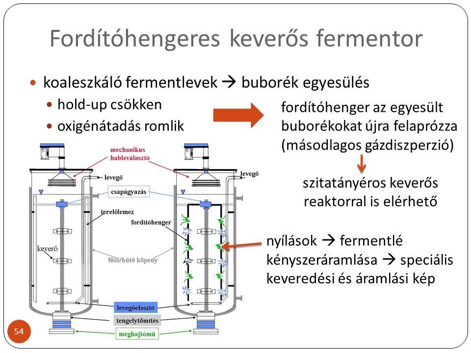 Fordítóhengeres keverős fermentor