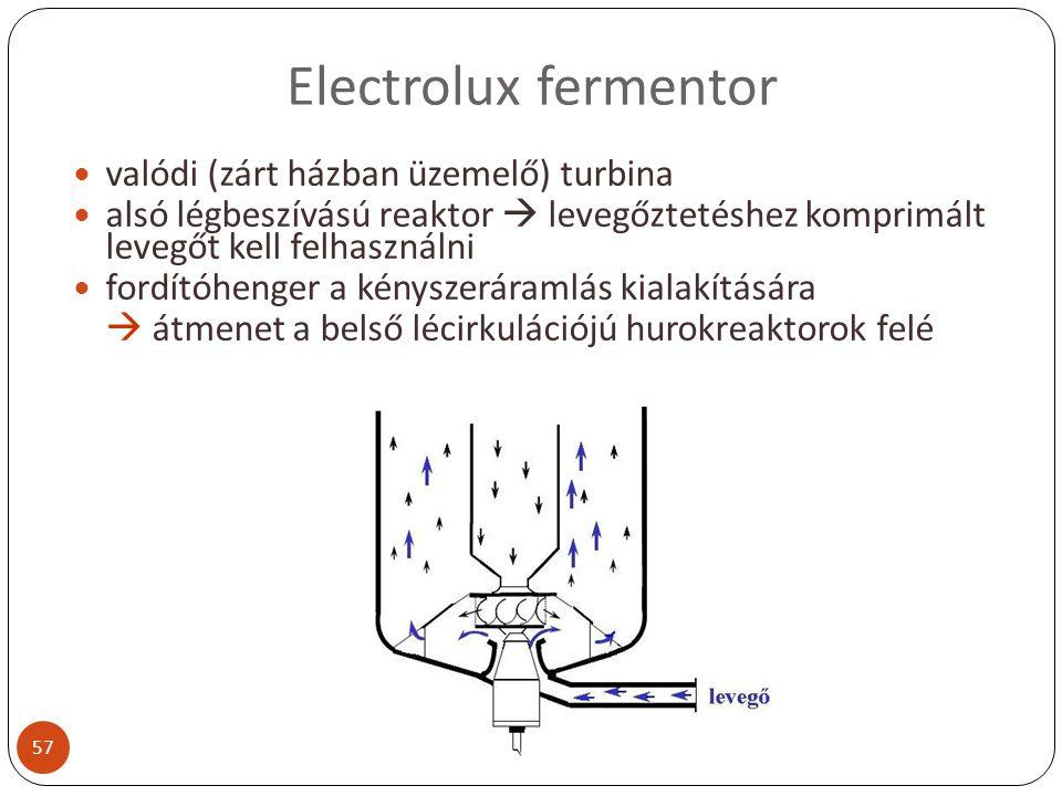 Electrolux fermentor valódi (zárt házban üzemelő) turbina
