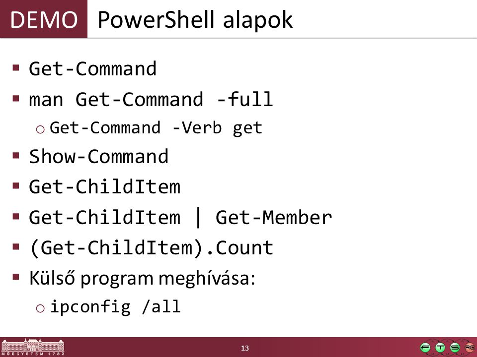 PowerShell alapok Get-Command man Get-Command -full Show-Command