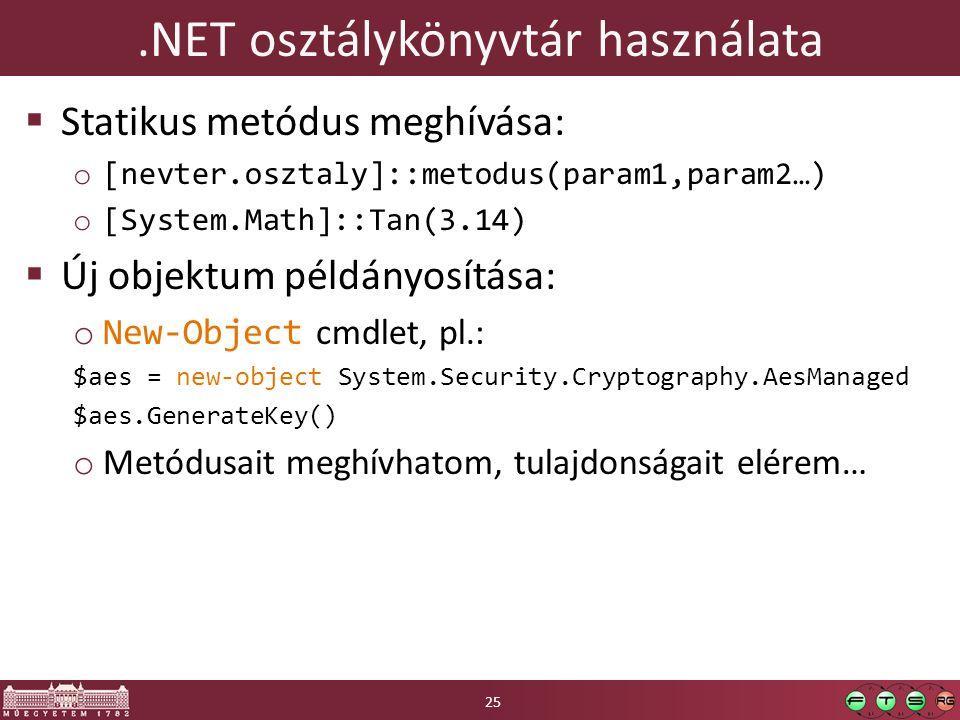 .NET osztálykönyvtár használata