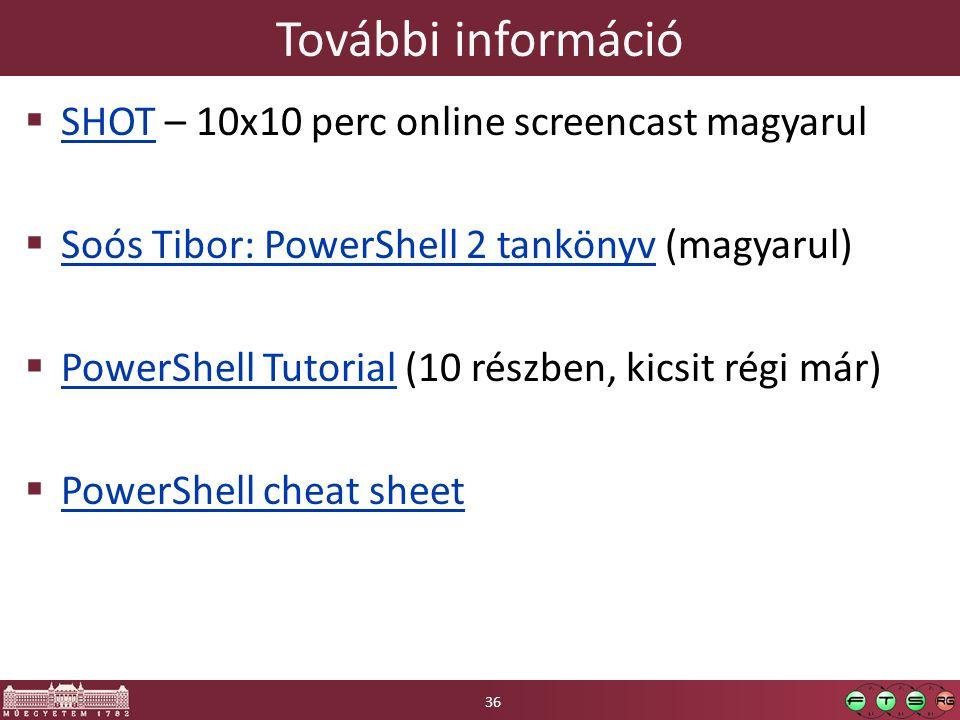 További információ SHOT – 10x10 perc online screencast magyarul