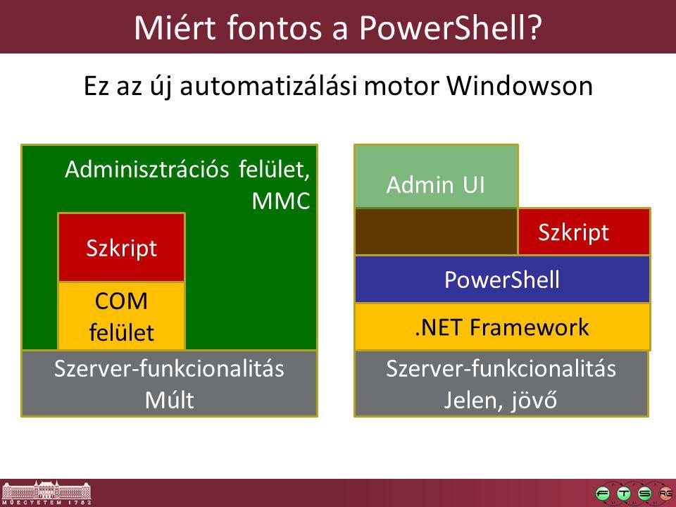 Miért fontos a PowerShell