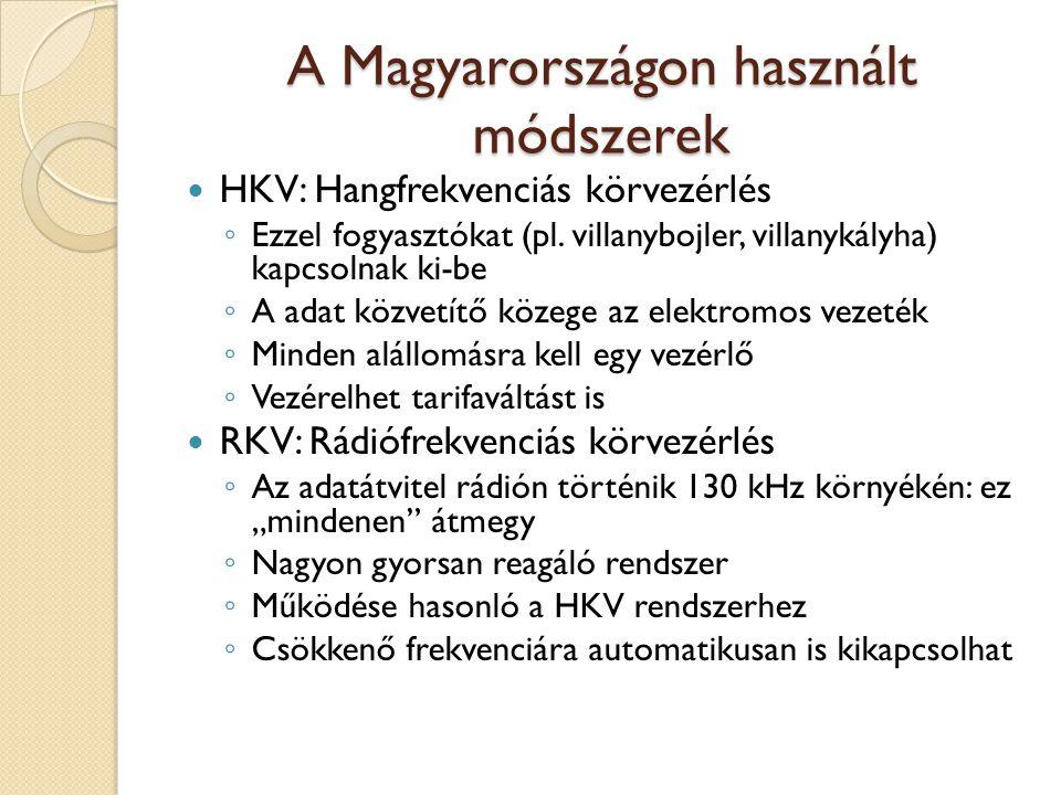 A Magyarországon használt módszerek