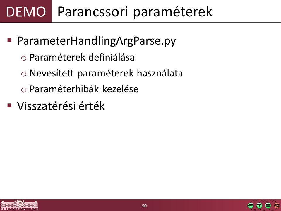 Parancssori paraméterek