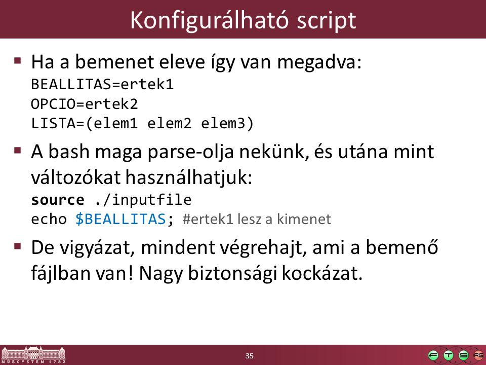 Konfigurálható script