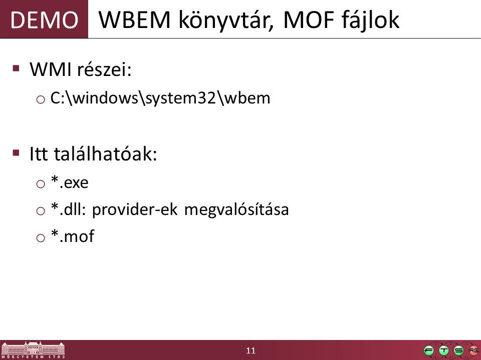 WBEM könyvtár, MOF fájlok