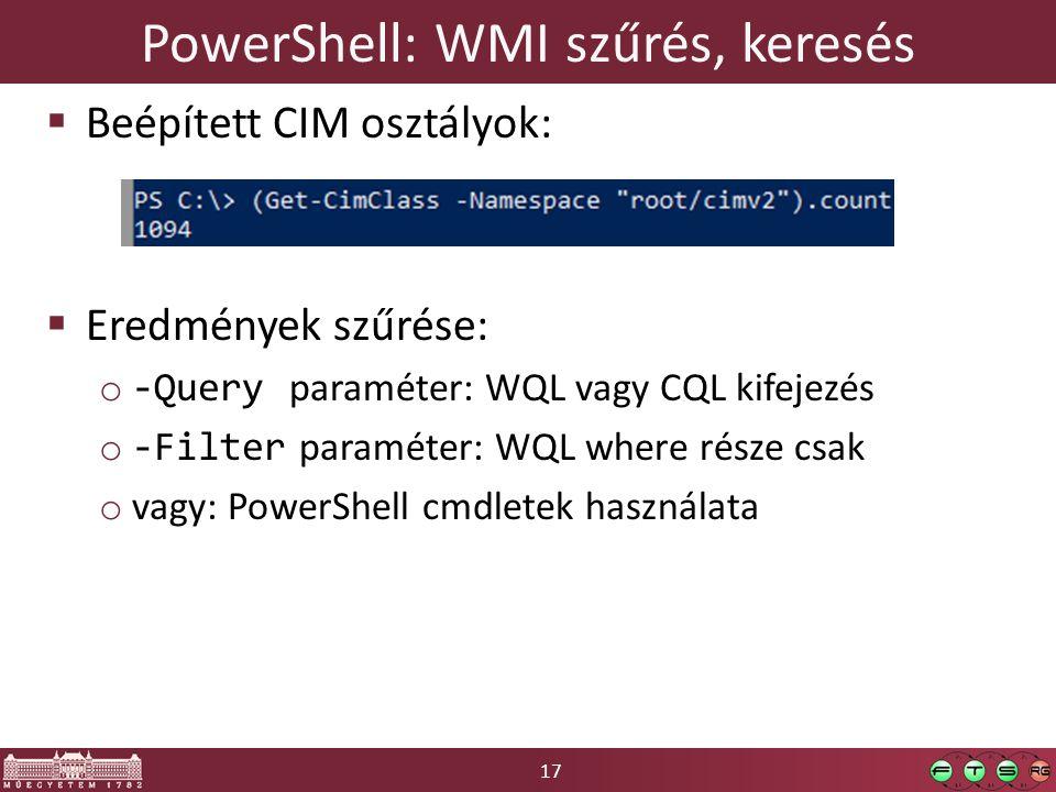 PowerShell: WMI szűrés, keresés
