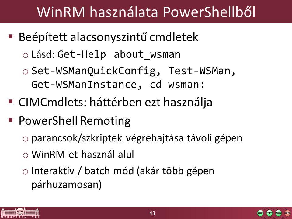 WinRM használata PowerShellből