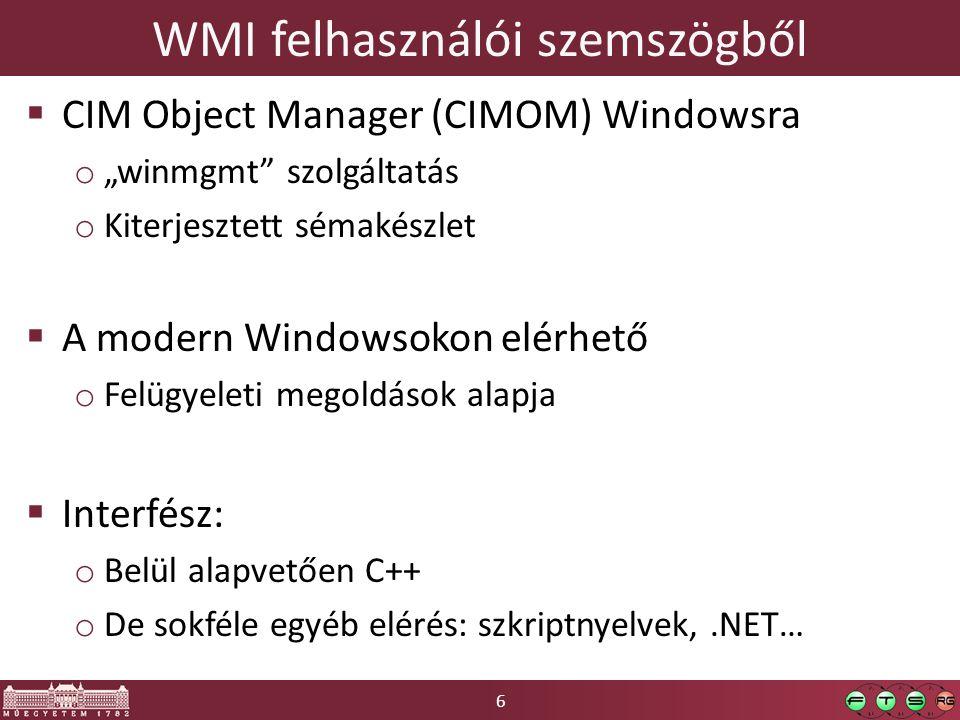 WMI felhasználói szemszögből