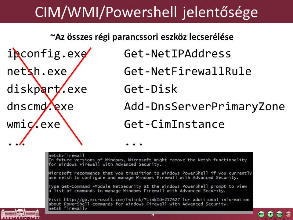 CIM/WMI/Powershell jelentősége