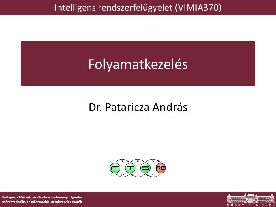 Intelligens rendszerfelügyelet (VIMIA370)