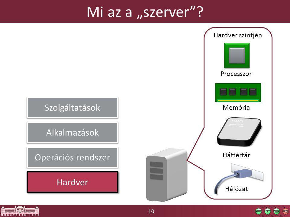 """Mi az a """"szerver Szolgáltatások Alkalmazások Operációs rendszer"""