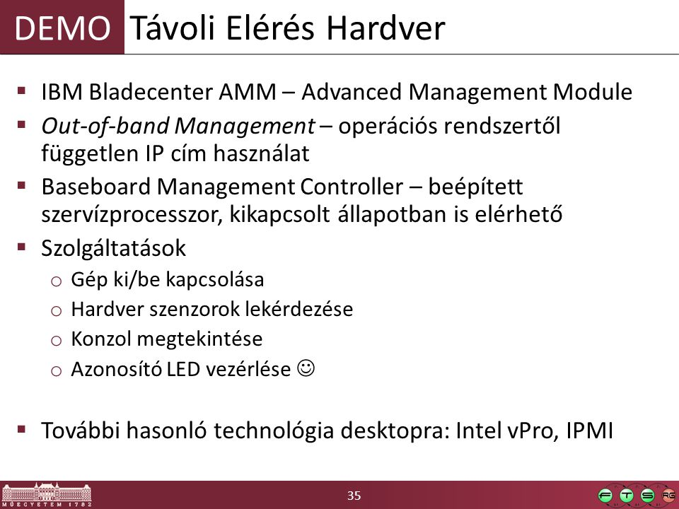 Távoli Elérés Hardver IBM Bladecenter AMM – Advanced Management Module