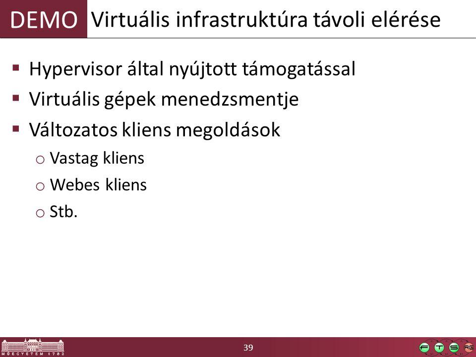 Virtuális infrastruktúra távoli elérése