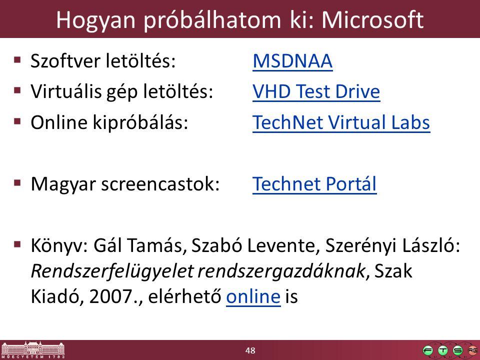 Hogyan próbálhatom ki: Microsoft