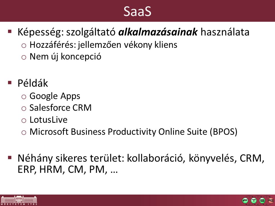 SaaS Képesség: szolgáltató alkalmazásainak használata Példák