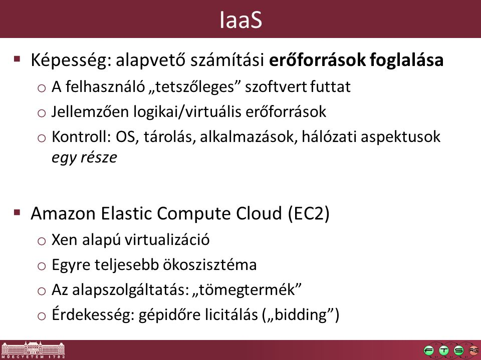 IaaS Képesség: alapvető számítási erőforrások foglalása