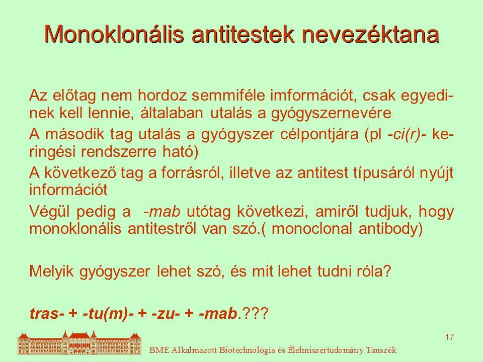 Monoklonális antitestek nevezéktana