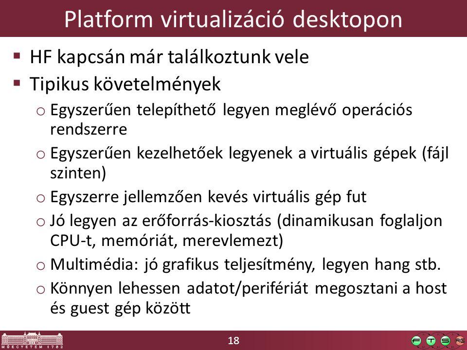 Platform virtualizáció desktopon